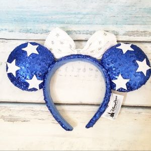 Disney Parks Sequined Minnie Mickey Mouse Ears